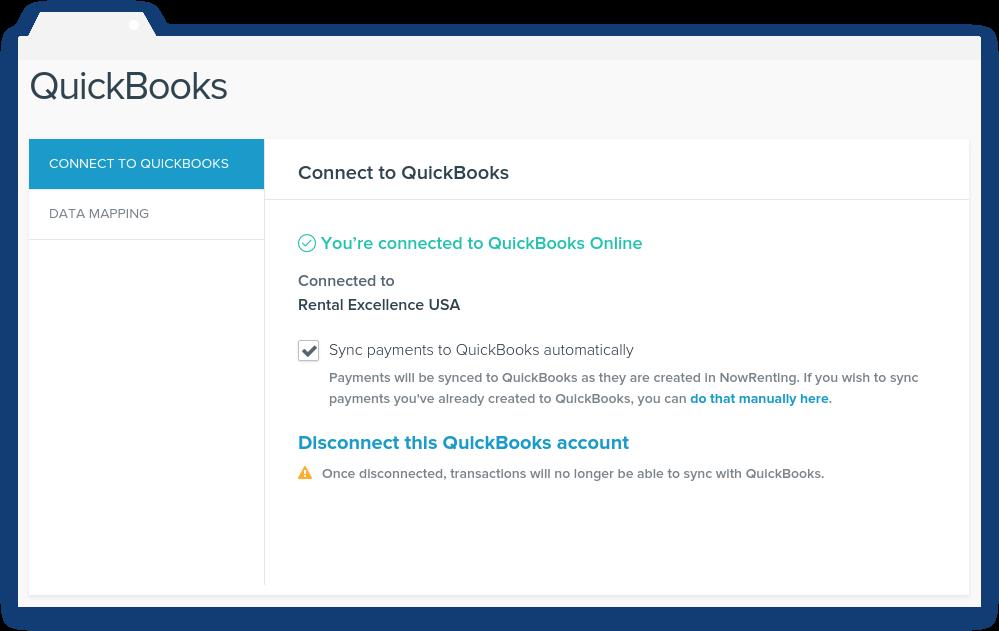 NowRenting QuickBooks Sync