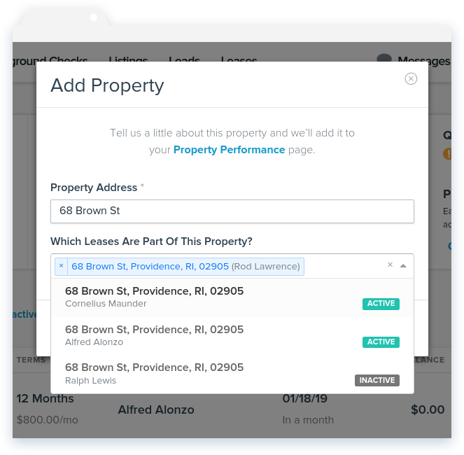 NowRenting Add Property Window