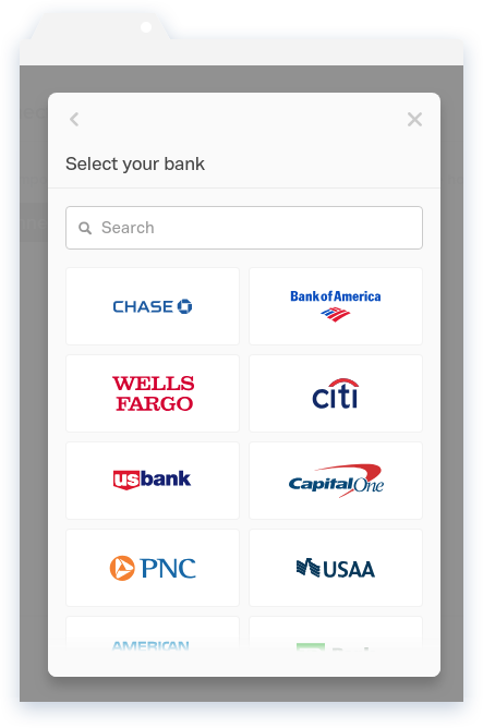 NowRenting Connect a Bank Account Choose Bank