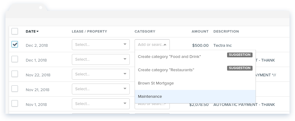 NowRenting -- Sync Expenses -- Choose Category