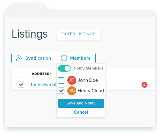 NowRenting: Assign a User to a Listing