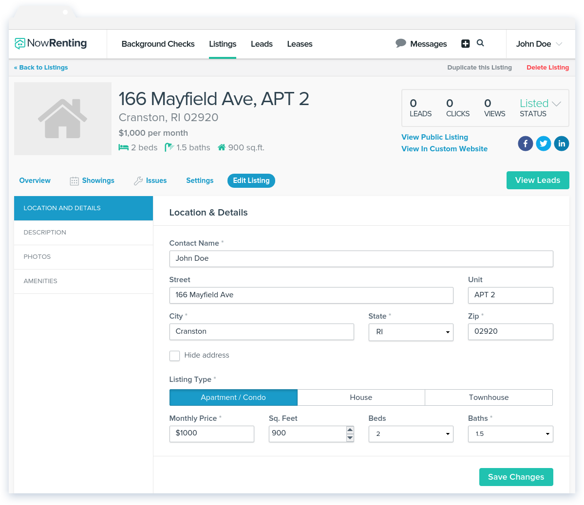 NowRenting: How to Edit a Listing