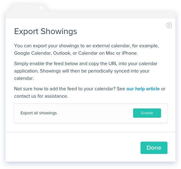 NowRenting: Export Showings -- Enable