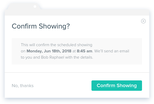 NowRenting: Confirm Showing