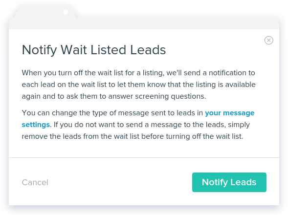NowRenting Wait List: Notify Wait Listed Leads