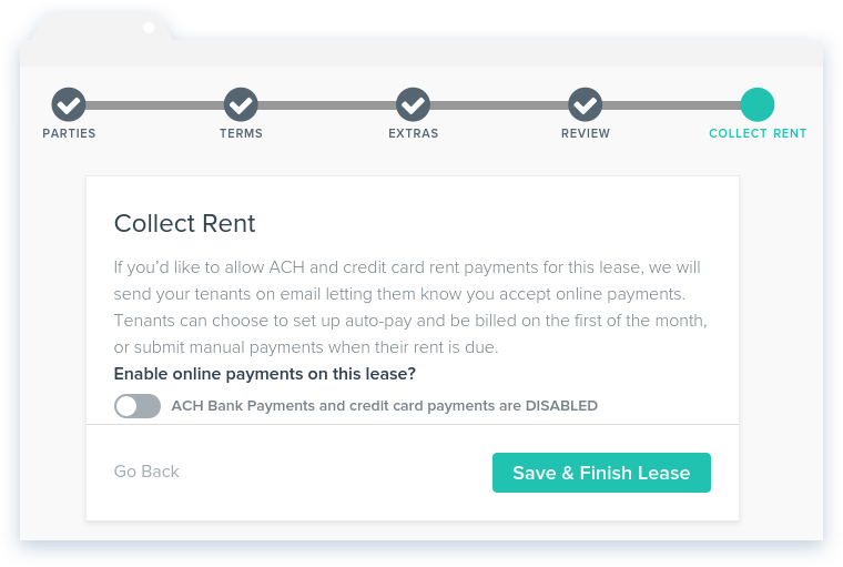 NowRenting: Create Lease - Collect Rent