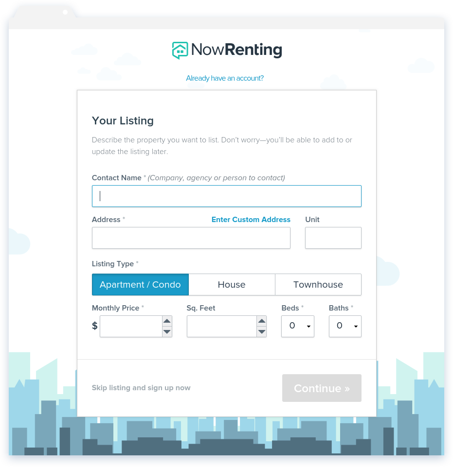 NowRenting: List Now